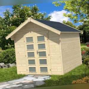 28 mm Gartenhaus Hengelo ca. 250x300 cm Gerätehaus Holzhaus Schuppen Blockhaus