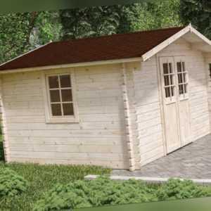 44 mm Gartenhaus ca. 400x300 cm + FUSSBODEN Gerätehaus Blockhaus Holzhaus Holz