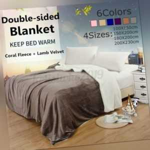 Dicke Decken für Betten Fleece Flanell Warm Throws Decke Winter