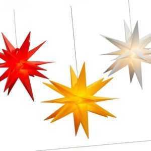 LED Leuchtstern Ø 35 cm 3D Stern batteriebetrieben Weihnachtsstern Timerfunktion