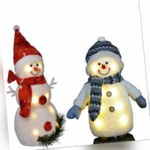 LED Schneemann Figur Weihnachtsdeko leuchtend Weihnachtsfigur Weihnachten Deko