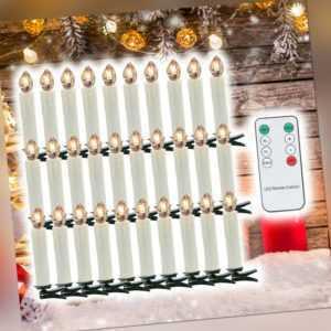 LED Weihnachtskerzen Weihnachtsbaumkerzen Warmweiß Weihnachtsdeko 30X kabellose