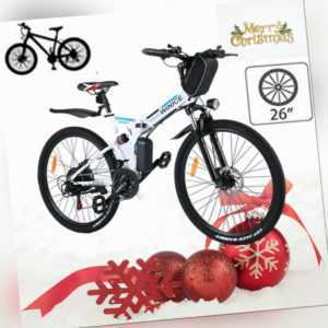 Elektrofahrrad,26 Zoll Klapprad E-Bike Mountainbike Shimano Pedelec LI-ION AKKU