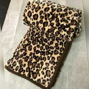 Leopard Wolldecke Kuscheldecke Bettdecke Tagesdecke Sofa Decke NEU