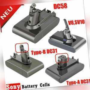 Neu V8 4,0Ah Vakuum Akku für Dyson SV10 DC58 DC31 DC35 Typ A / B DC16 V6 SV03