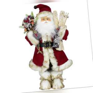 Weihnachtsmann Weihnachts Dekoration Deko Figur Santa Nikolaus Laurin 45cm Rot