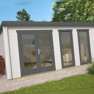 40 mm Gartenhaus ISO 500x400 cm Holzhaus Gerätehaus Blockhaus Holzhütte Haus