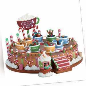 Lemax Cocoa Cups, Weihnachtsdorf, Weihnachtsdeko, Kirmes, Karussel mit Tassen,