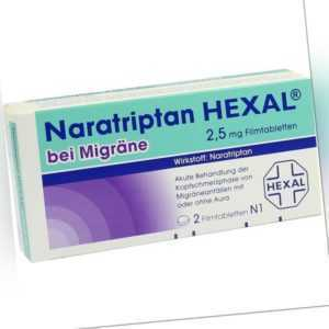 NARATRIPTAN HEXAL bei Migraene 2,5 mg   2 st   PZN 9334719