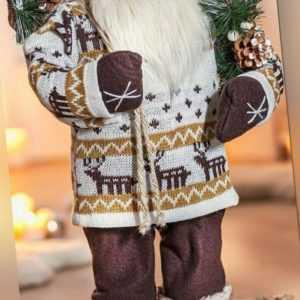XXL Nikolaus Santa Claus Weihnachtsmann Norweger Pulli Weihnachtsdeko 60cm Neu