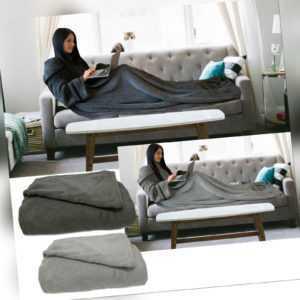 TV Decke Kuscheldecke mit Ärmeln Ärmeldecke 200cm x 150cm Armdecke