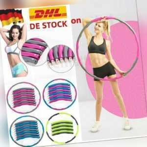 8 Teile Hula Hoop Reifen Fitness Schaumstoff 1 KG Bauchtrainer Fitnesstraining