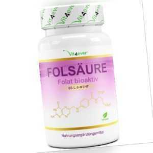 Folsäure / Folat - 365 Tabletten - Hochdosiert mit 800 µg / mcg Vitamin B9 Vegan