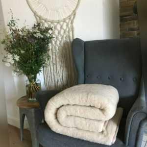 Wolldecke australisches Merino Prestige Naturhaardecke Wohndecke