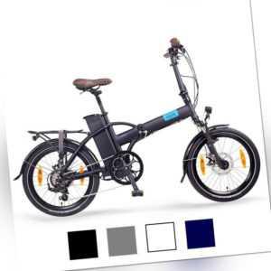 """NCM London 20"""" E-Faltrad, E-Bike 36V 15Ah 540Wh, blau, weiß, grau"""