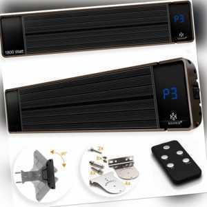KESSER® Dunkelstrahler 1800W Infrarot Heizstrahler Heizer Terrassenstrahler IP55