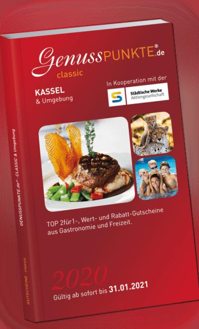Gutscheinbuch Kassel & Umgebung 2020 - gültig bis 31.01.2021
