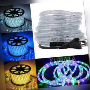 1-15m LED Lichtschlauch Lichterschlauch IP65 Außen Leiste Party Warmweiß Bunt DE