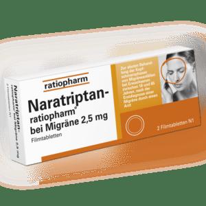 NARATRIPTAN RATIO 2,5mg bei Migräne 2 FTA PZN 09321616 2,5 mg ratiopharm