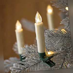 30X LED Weihnachtskerzen kabellose Weihnachtsbaumbeleuchtung Lichterkette Party