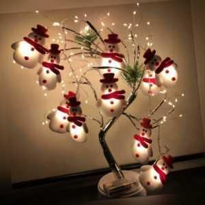 LED Lichterkette Weihnachten Beleuchtung Licht Schneemann Laterne Dekoration