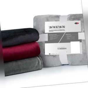 Kuscheldecke Mikrofaser Kashmir Griff Tagesdecke Sofa Couch Uni