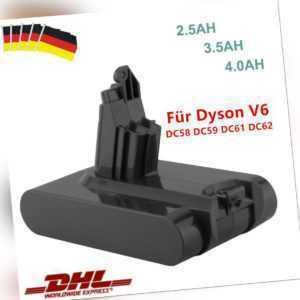 4000mAh 21.6V Li-ion Akku für Dyson Dyson V6 SV03 SV05 SV09 DC58 DC59 DC61 DC62