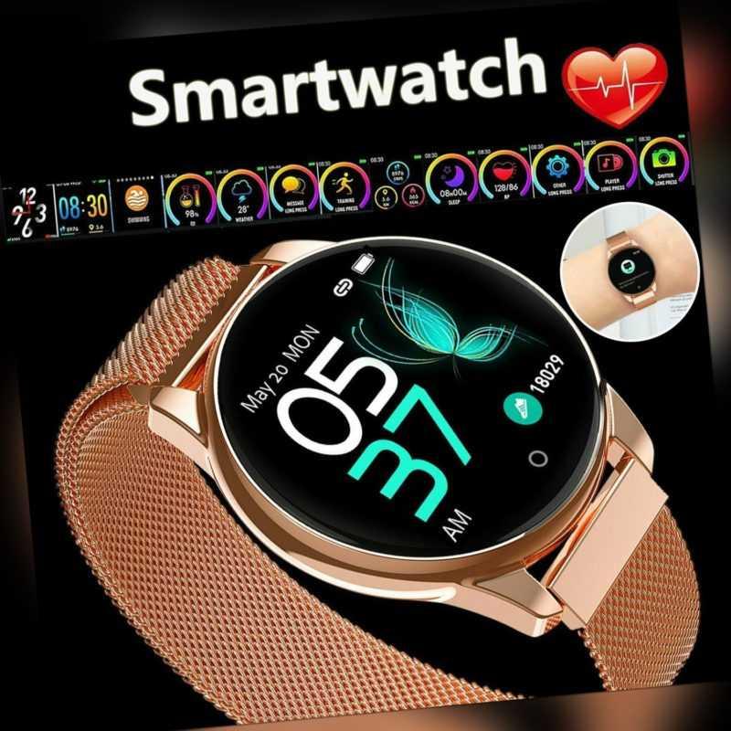 Damen Wasserdicht Fitness Tracker Armband Uhr Pulsmesser Smartwatch Sportuhr