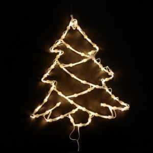 Fensterbild Fenstersilhouette Leuchtbild Weihnachtssilhouette TANNE m. Saugnapf