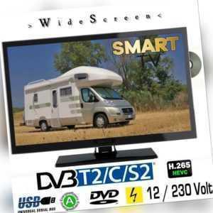 Smart TV B-Ware 22 Zoll DVB/S/S2/T2/C, DVD, USB, 12V 230 Volt WLAN