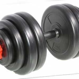 SportPlus 15 kg Hantel Set Kurzhantel Gewichte Vinyl Hantelscheiben Hantelset
