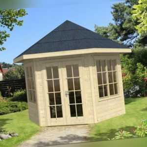 28 mm Gartenhaus Almelo ca. 350x300 cm Gerätehaus Holzhaus Schuppen Blockhaus
