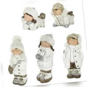 Deko Figur Winter-Kind - Winterdeko Winterkinder Weihnachtsdeko Weihnachtsfigur