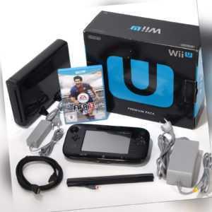 Nintendo Wii U Konsole Premium Pack 32 GB Schwarz Spiel Fifa 13 OVP