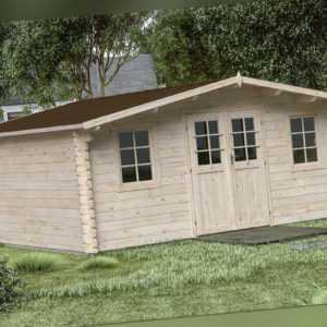44mm Gartenhaus 500x500 cm Gerätehaus Holzhaus Holz Blockhaus Schuppen Hütte Neu