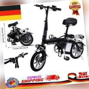 E-Klapprad Elektrofahrrad E-Bike Fahrrad Lithium 48V 350W Electric Bicycle DHL D