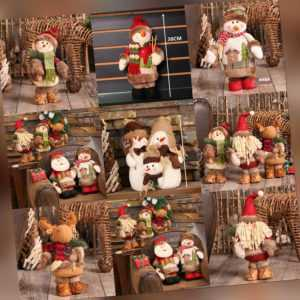 Weihnachten Figuren Schneemann Weihnachtsmann Elch Figur Deko xmas