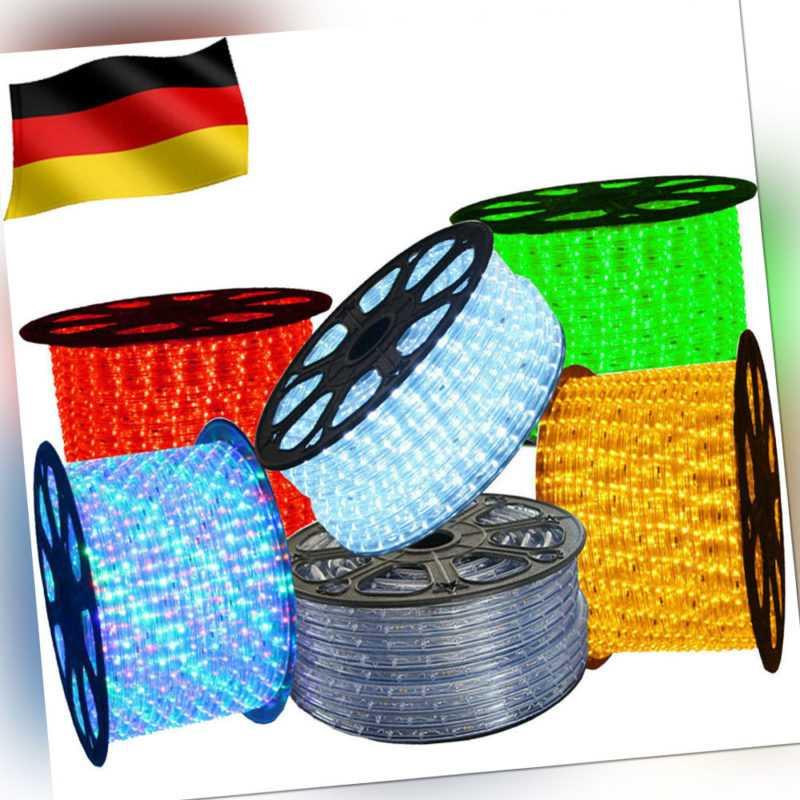 LED Lichterschlauch Party Lichtschlauch Außen/Innen IP65 Lichterkette 1m-100m DE