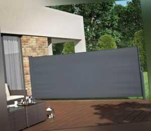 Seitenmarkise Ausziehbar Balkon Garten Windschutz Sichtschutz Seitenrollo 160cm