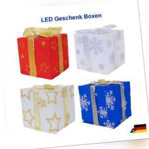 LED Geschenkbox Weihnachten Beleuchtete Geschenkboxen Weihnachtsdeko 4er Set