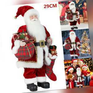 29cm Weihnachtsmann Santa Laterne Weihnachten Figur Nikolaus Weihnachts Deko DHL