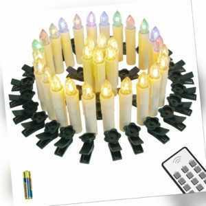 LED Weihnachtskerzen Warmweiß & RGB Weihnachtsbaum Kerzen LichterketteKabellose