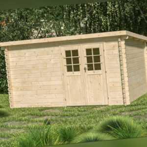 44 mm Gartenhaus Osten Blockhütte ca. 400x300 cm Gerätehaus Holzhaus Schuppen