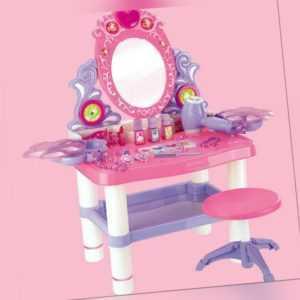 Make-up Tischspielzeug Schminktisch Prinzessin Mädche Toy mit Hocker Musik Sound