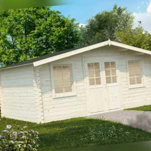 44 mm Gartenhaus 5x4m Palma G8 + Schindeln Gerätehaus Blockhaus Holzhaus Datsche
