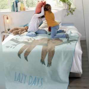 Biederlack Decke Kuscheldecke Young & Fancy Lazy Days 150 x
