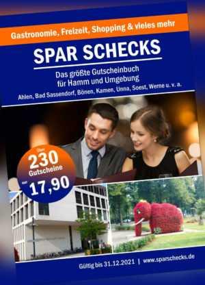 NEU 2 Stück Spar Schecks 2020/21 - das größte Gutscheinbuch für Hamm & Umgebung