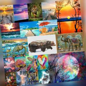 Malen nach Zahlen Kit DIY Leinwand Öl Wandkunst Bild Ornamente Craft Home