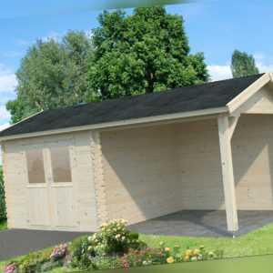 28 mm Gartenhaus 600x300 cm Gerätehaus Blockhaus Schuppen Holzhaus Holz