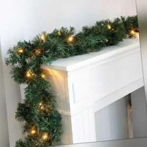 Tannengirlande Weihnachtsgirlande 270cm Weihnachtsdeko LED innen außen 8320